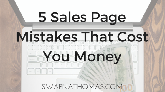 Sales Page Mistakes